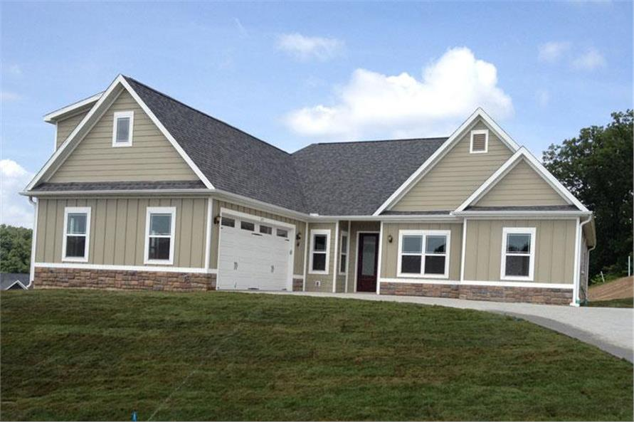 Home Exterior Photograph of this 3-Bedroom,2107 Sq Ft Plan -104-1029