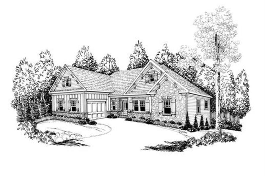 Home Plan Rendering of this 3-Bedroom,2107 Sq Ft Plan -2107