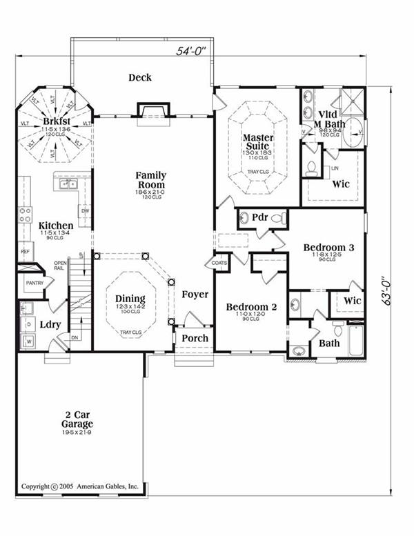 House Plan Lexington Main Floor Plan
