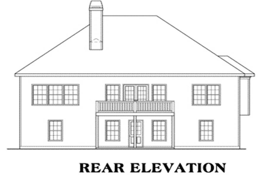 Home Plan Rear Elevation of this 3-Bedroom,1851 Sq Ft Plan -104-1030