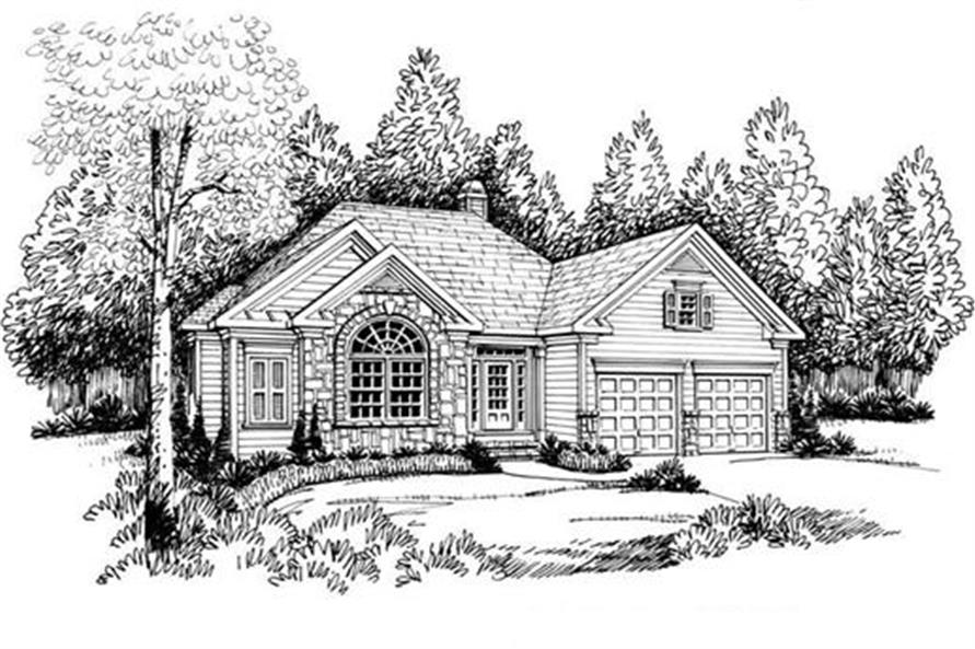 Home Plan Rendering of this 3-Bedroom,1851 Sq Ft Plan -104-1030