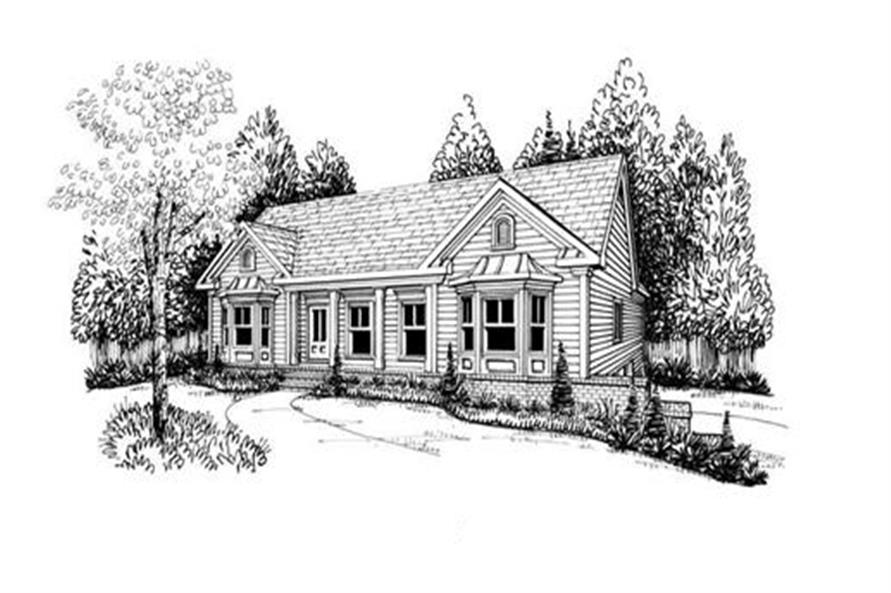 Home Plan Rendering of this 3-Bedroom,1678 Sq Ft Plan -104-1031