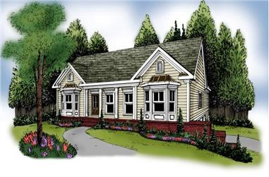 3-Bedroom, 1678 Sq Ft Country House Plan - 104-1031 - Front Exterior