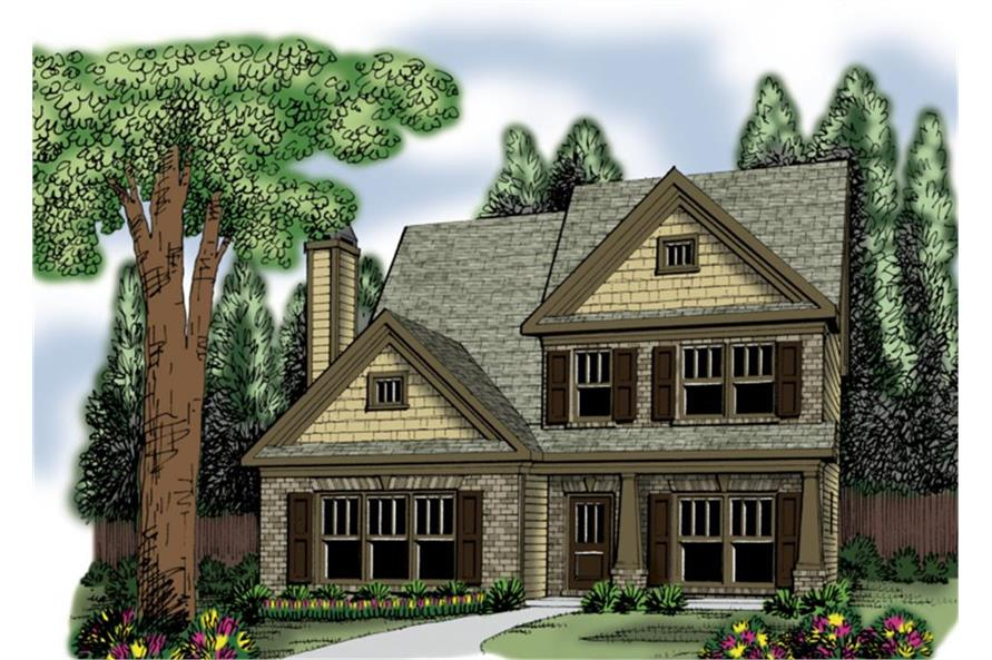 104-1032: Home Plan Rendering