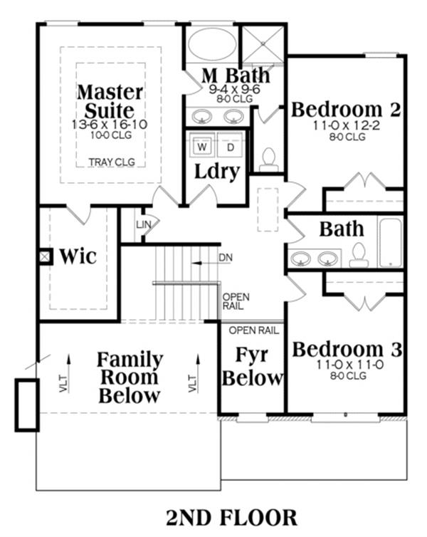 104-1032: Floor Plan Upper Level