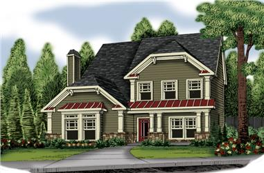 3-Bedroom, 1893 Sq Ft Country Home Plan - 104-1033 - Main Exterior