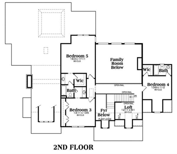 104-1034: Floor Plan Upper Level