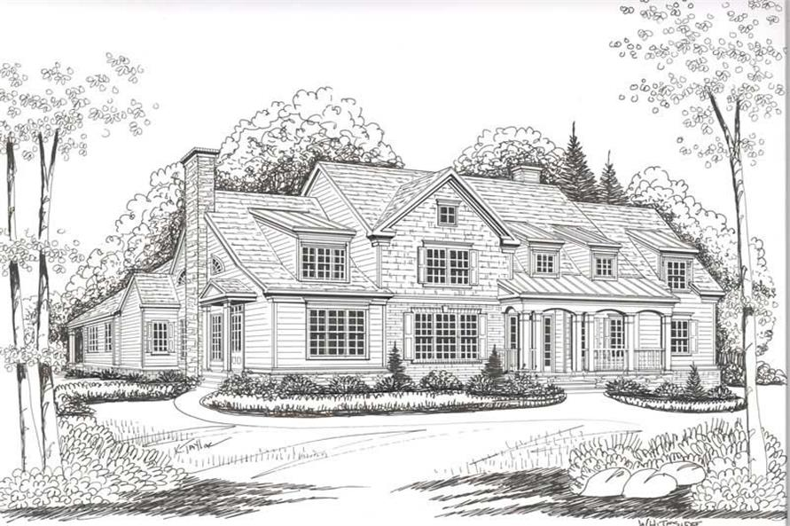 Front Elevation of this 5-Bedroom,4416 Sq Ft Plan -4416