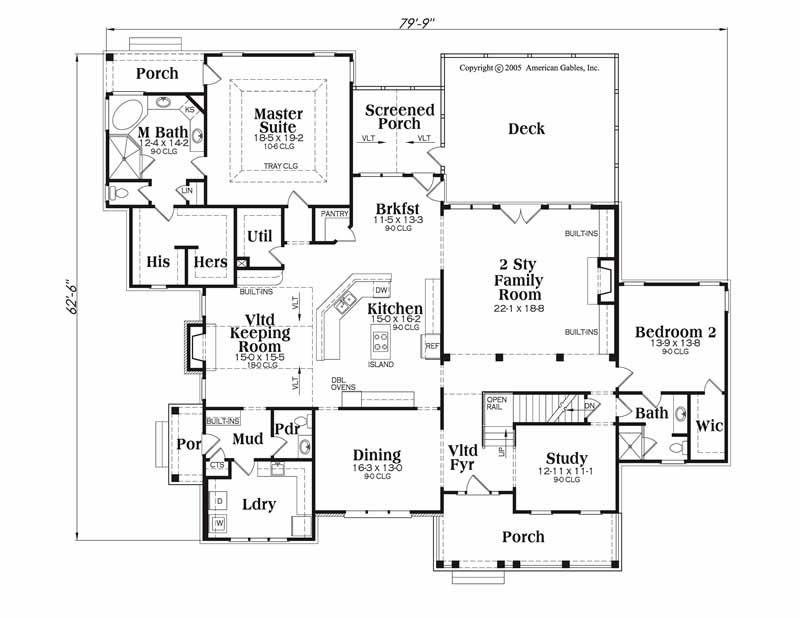 House Plan Dunwoody Main Floor Plan