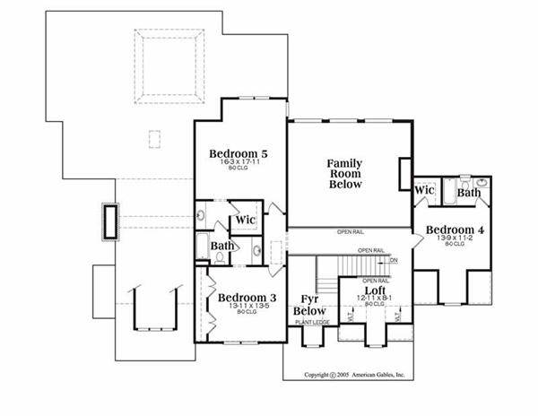 House Plan Dunwoody Second Floor Plan