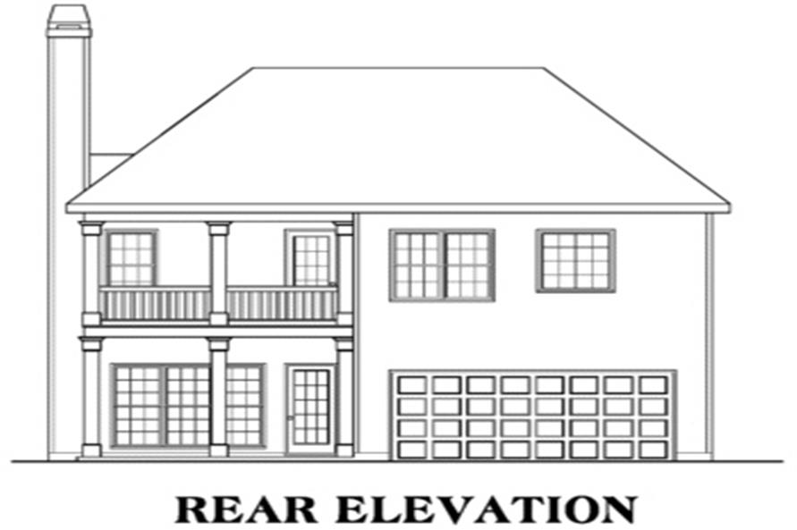 104-1035: Home Plan Rear Elevation