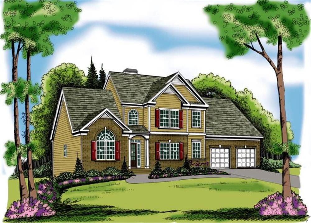 Main image for house plan # 17044