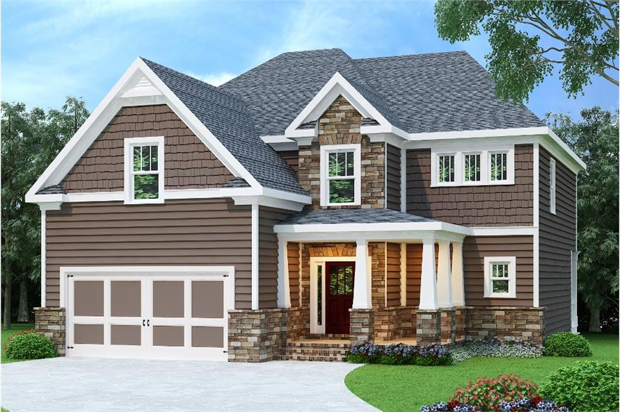 Home Plan Rendering of this 4-Bedroom,2510 Sq Ft Plan -2510