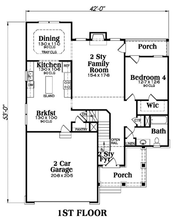 104-1038: Floor Plan Main Level