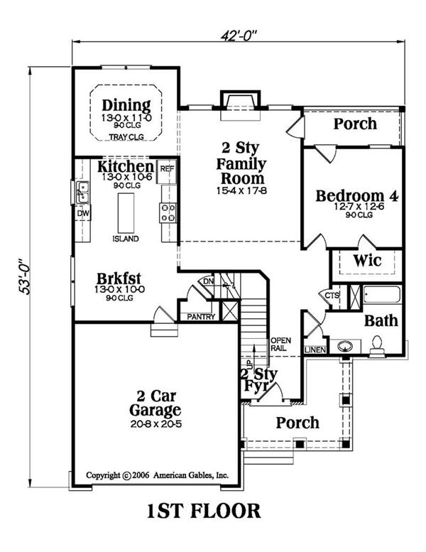 House Plan AG-Townsend Main Floor Plan