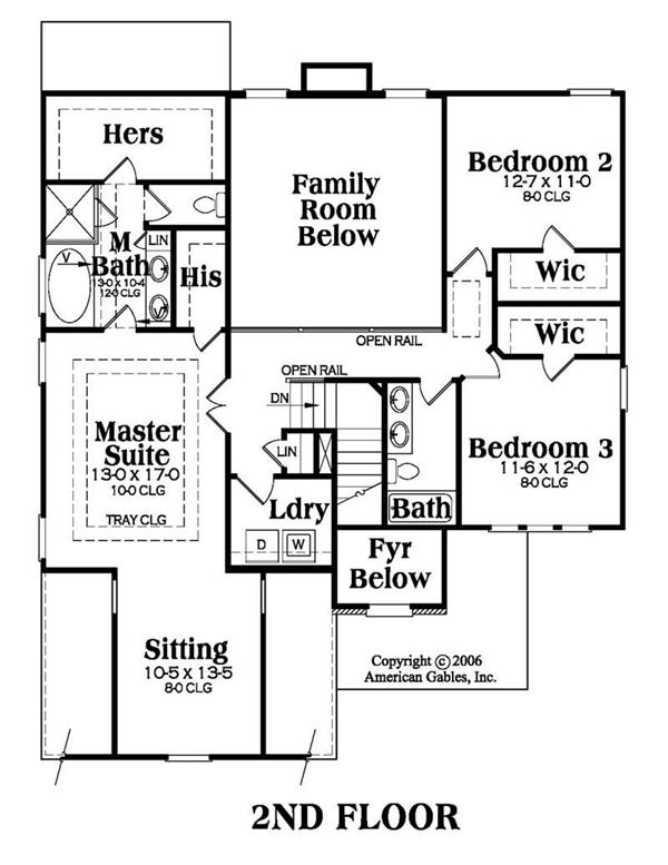 House Plan AG-Townsend Second Floor Plan