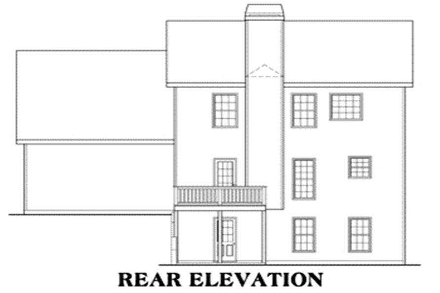 104-1039: Home Plan Rear Elevation