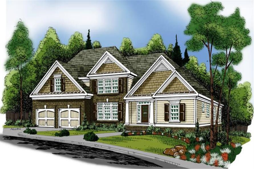 Home Plan Rendering of this 4-Bedroom,3153 Sq Ft Plan -3153