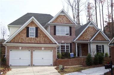 4-Bedroom, 3153 Sq Ft Craftsman House Plan - 104-1040 - Front Exterior