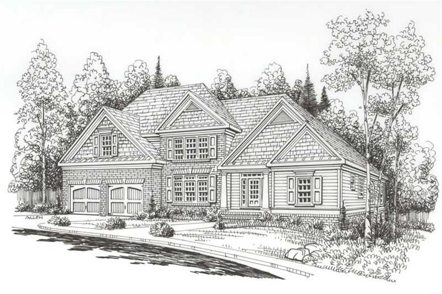 Front Elevation of this 4-Bedroom,3153 Sq Ft Plan -3153