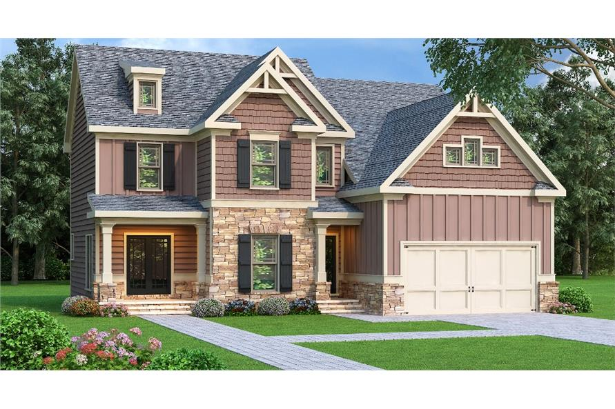 Home Plan Rendering of this 4-Bedroom,2292 Sq Ft Plan -2292