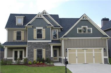 4-Bedroom, 2292 Sq Ft Craftsman House Plan - 104-1041 - Front Exterior