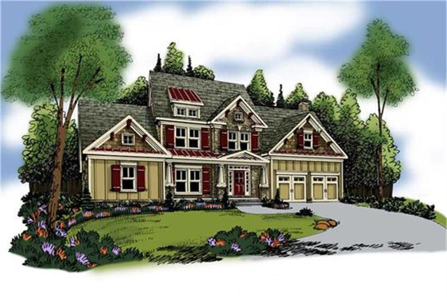 Home Plan Rendering of this 3-Bedroom,2351 Sq Ft Plan -104-1042