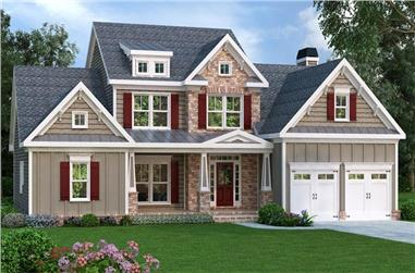 3-Bedroom, 2351 Sq Ft Country Home Plan - 104-1042 - Main Exterior