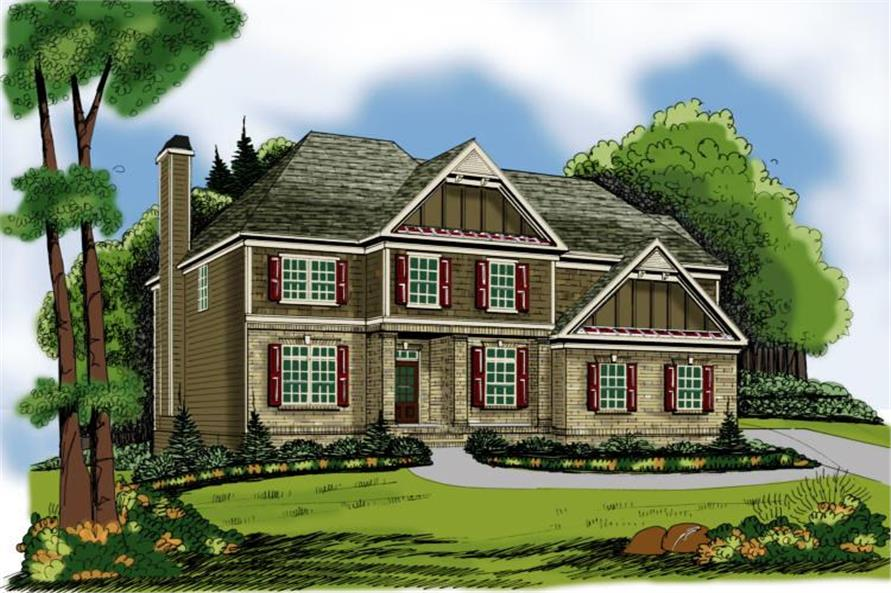 4-Bedroom, 2662 Sq Ft Country House Plan - 104-1044 - Front Exterior