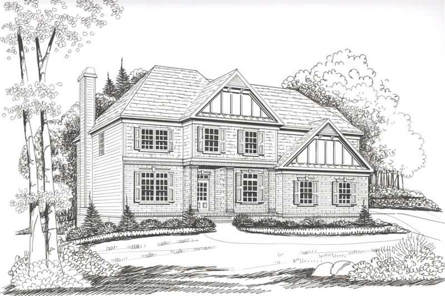 Home Plan Rendering of this 4-Bedroom,2662 Sq Ft Plan -104-1044