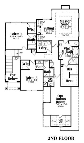 104-1045: Floor Plan Upper Level