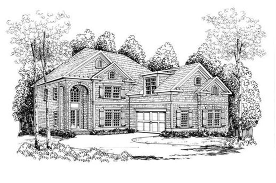 Home Plan Rendering of this 4-Bedroom,3249 Sq Ft Plan -104-1045