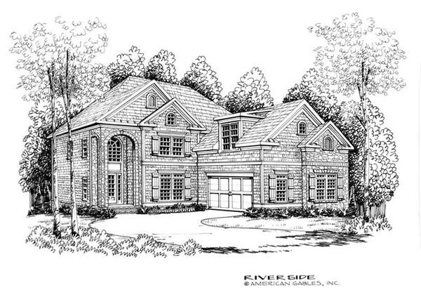 House Plan Riverside Front Elevation
