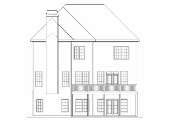 House Plan Riverside Rear Elevation