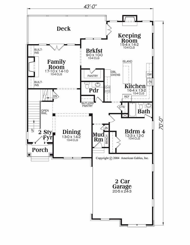 House Plan Riverside Main Floor Plan