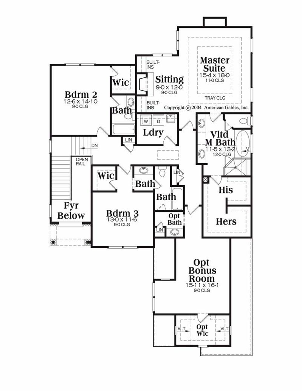House Plan Riverside Second Floor Plan