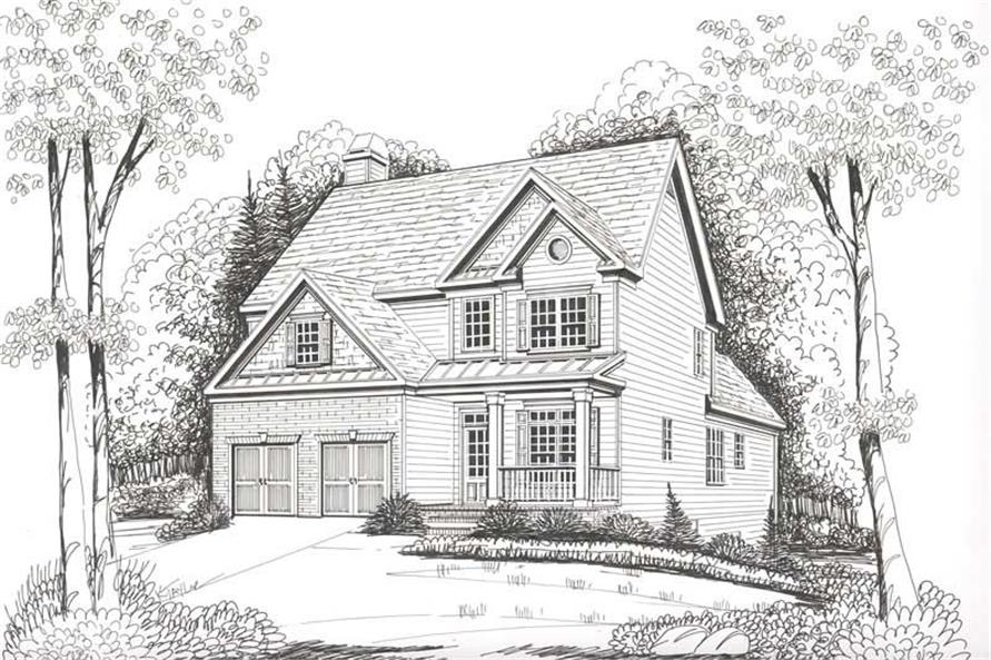 Home Plan Rendering of this 3-Bedroom,2028 Sq Ft Plan -104-1046