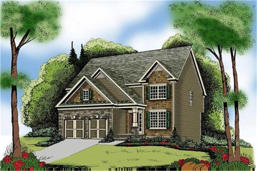 Home Plan Rendering of this 4-Bedroom,2228 Sq Ft Plan -104-1047