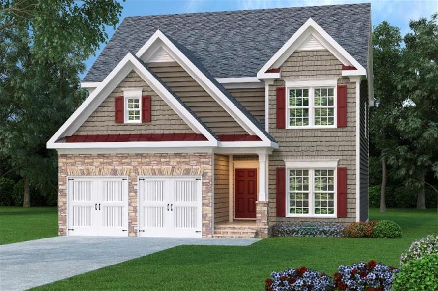 4-Bedroom, 2228 Sq Ft Craftsman Home Plan - 104-1047 - Main Exterior