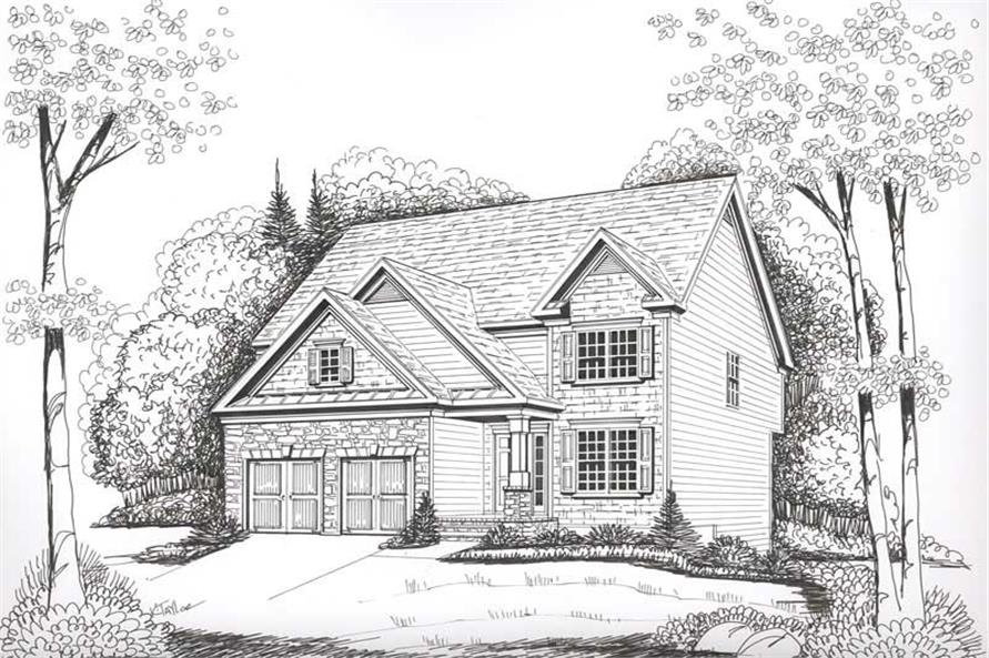 Front View of this 4-Bedroom,2228 Sq Ft Plan -2228