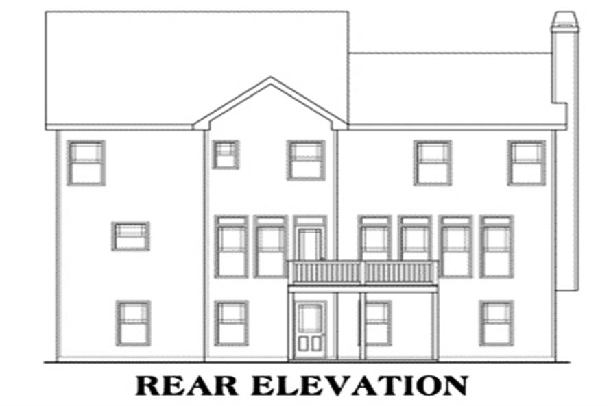 Home Plan Rear Elevation of this 3-Bedroom,2465 Sq Ft Plan -104-1048