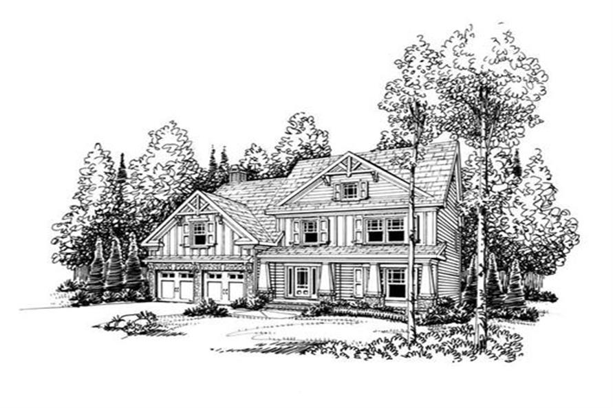 Home Plan Rendering of this 3-Bedroom,2465 Sq Ft Plan -104-1048