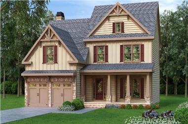 3-Bedroom, 2465 Sq Ft Craftsman House Plan - 104-1048 - Front Exterior