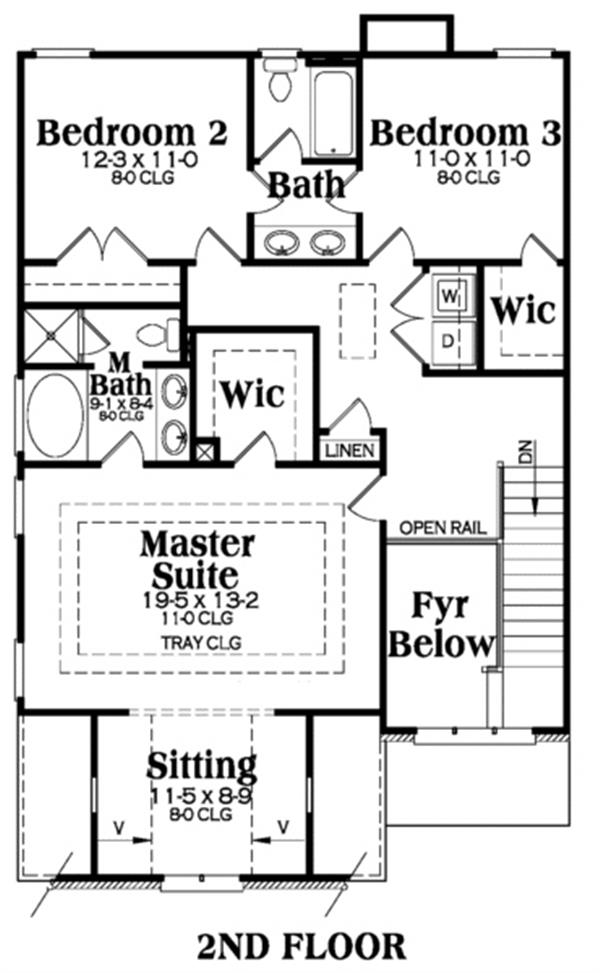 104-1049: Floor Plan Upper Level