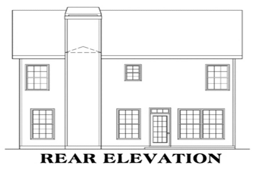104-1049: Home Plan Rear Elevation