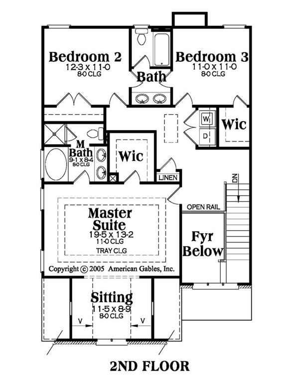 House Plan AG-Emerson Second Floor Plan
