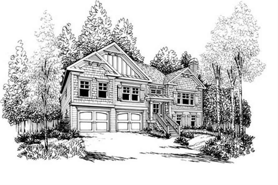Home Plan Rendering of this 3-Bedroom,1678 Sq Ft Plan -104-1052