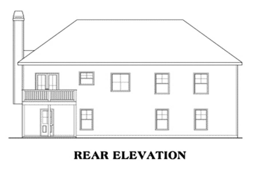 Home Plan Rear Elevation of this 3-Bedroom,1678 Sq Ft Plan -104-1052