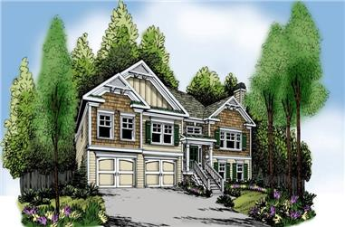 3-Bedroom, 1678 Sq Ft Craftsman House Plan - 104-1052 - Front Exterior