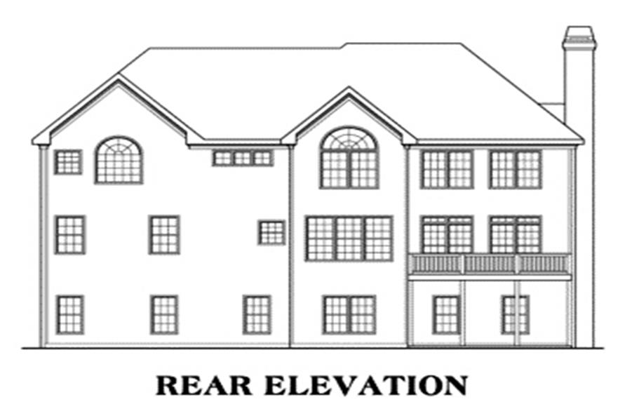 House Plan Highland Rear Elevation
